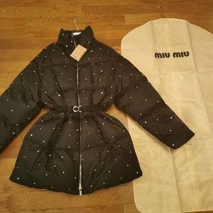 New MIU MIU down jacket with embellishment